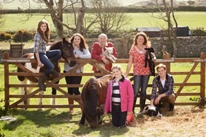 The Anderson Family at Knockaloe Beg Farmstay Isle of Man
