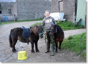 Zoe with the Shetlands