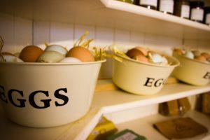 Fresh eggs in our farm shop at Knockaloe Beg Farm, bed and breakfast, Isle of Man