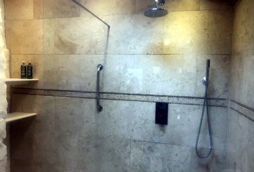 The Tower shower room