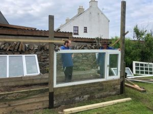 Recycling a greenhouse